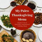 Paleo Thanksgiving Menu on the Table