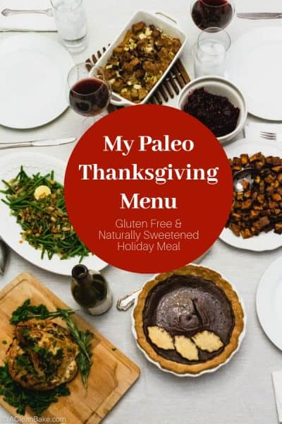 Paleo Thanksgiving Menu on the Table