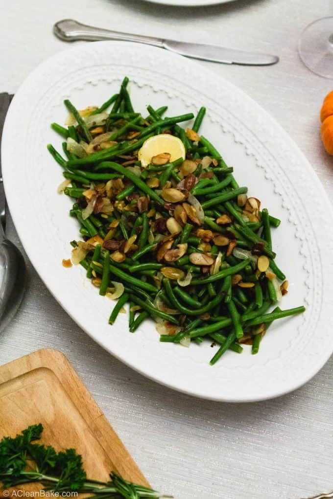 Paleo Thanksgiving Green Beans