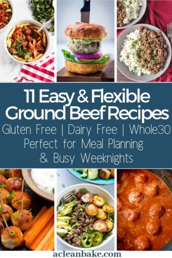 Collage of 11 Photos of Paleo Ground Beef Recipes