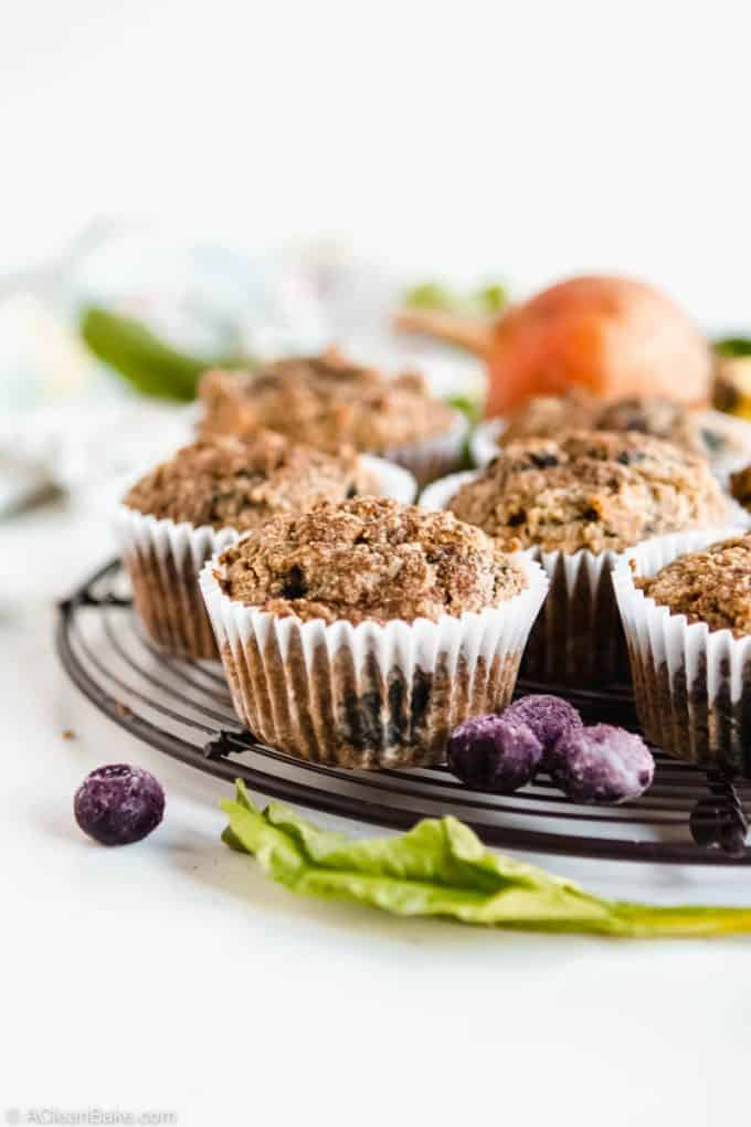 Kid Friendly Gluten Free and Paleo Beet-Blueberry Muffins #glutenfree #glutenfreemuffins #paleo #paleomuffins #glutenfreebreakfast #paleobreakfast #healthybreakfast #glutenfreesnack #snackrecipe #breakfastrecipe #healthymuffins #paleosnack #paleosnackrecipe #healthybreakfast #healthybreakfastrecipe