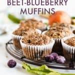 Kid Friendly Gluten Free and Paleo Beet-Blueberry Muffins #glutenfree #glutenfreemuffins #paleo #paleomuffins #glutenfreebreakfast #paleobreakfast #healthybreakfast #glutenfreesnack #snackrecipe #breakfastrecipe #healthymuffins #paleosnack #paleosnackrecipe #healthybreakfast #healthybreakfastrecipe