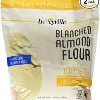Almond Flour Blanched Ultra-Fine Grind, Honeyville 3lb Bag Value 2-Pack, Certified Gluten-Free