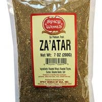 Spicy World Za'atar 7 Ounce - Freshly Packaged with Thyme and Sumac (Zatar/Zaatar/Zahtar)