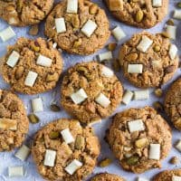 Gluten Free and Paleo Pistachio White Chocolate Chunk Cookies