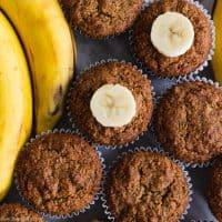 Paleo & Gluten Free Banana Muffins