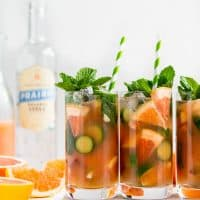 Grapefruit Mint Vodka Spritz