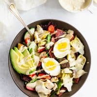 Whole30 Cobb Salad with Lemon Tahini Dressing