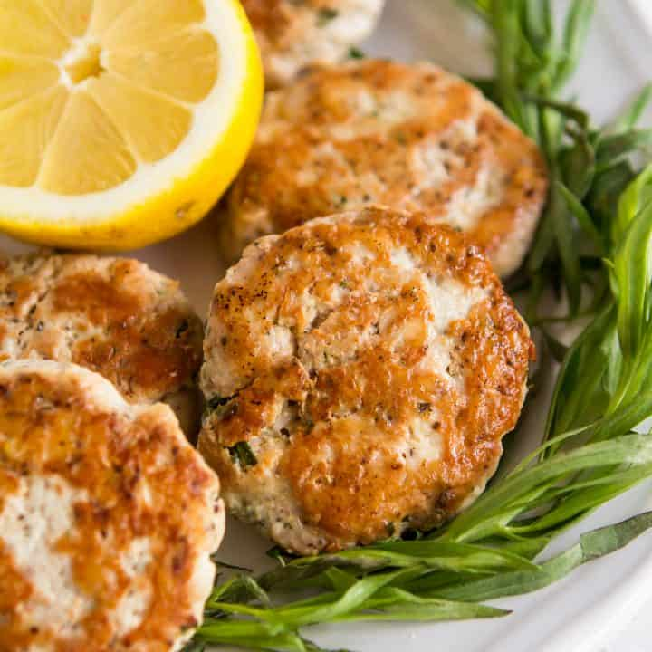 Lemon Tarragon Turkey Sausage