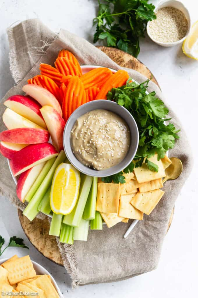 Tahini Dressing/Tahini Dip on a snack platter