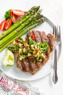 Grilled Skirt Steak with Pineapple Jalapeno Salsa