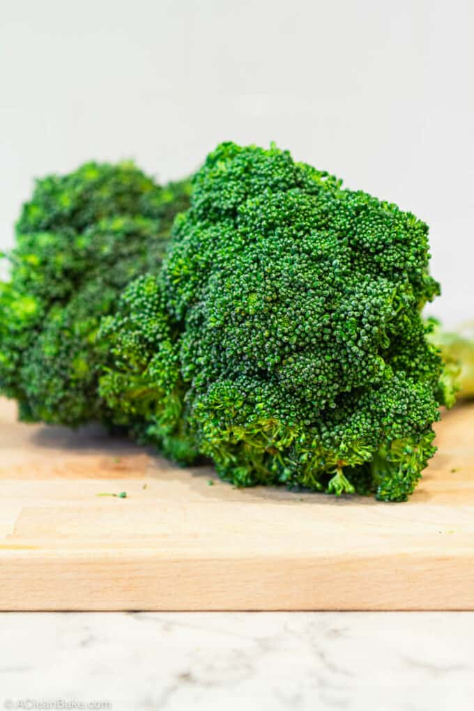 How to Freeze Broccoli: broccoli ready to freeze