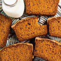 Paleo Gluten Free Pumpkin Bread with Maple Glaze