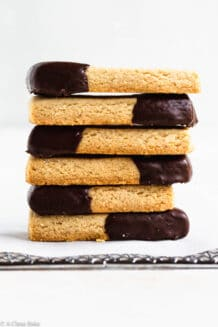 Pile of paleo gluten free shortbread