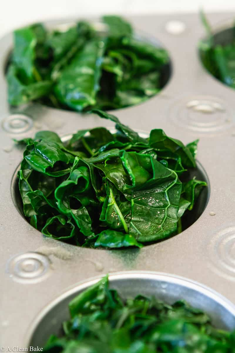 How to freeze kale using a cupcake tin